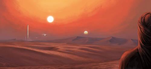 Tatooine inspired desert
