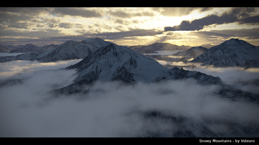 Snowy Mountains by Voleuro