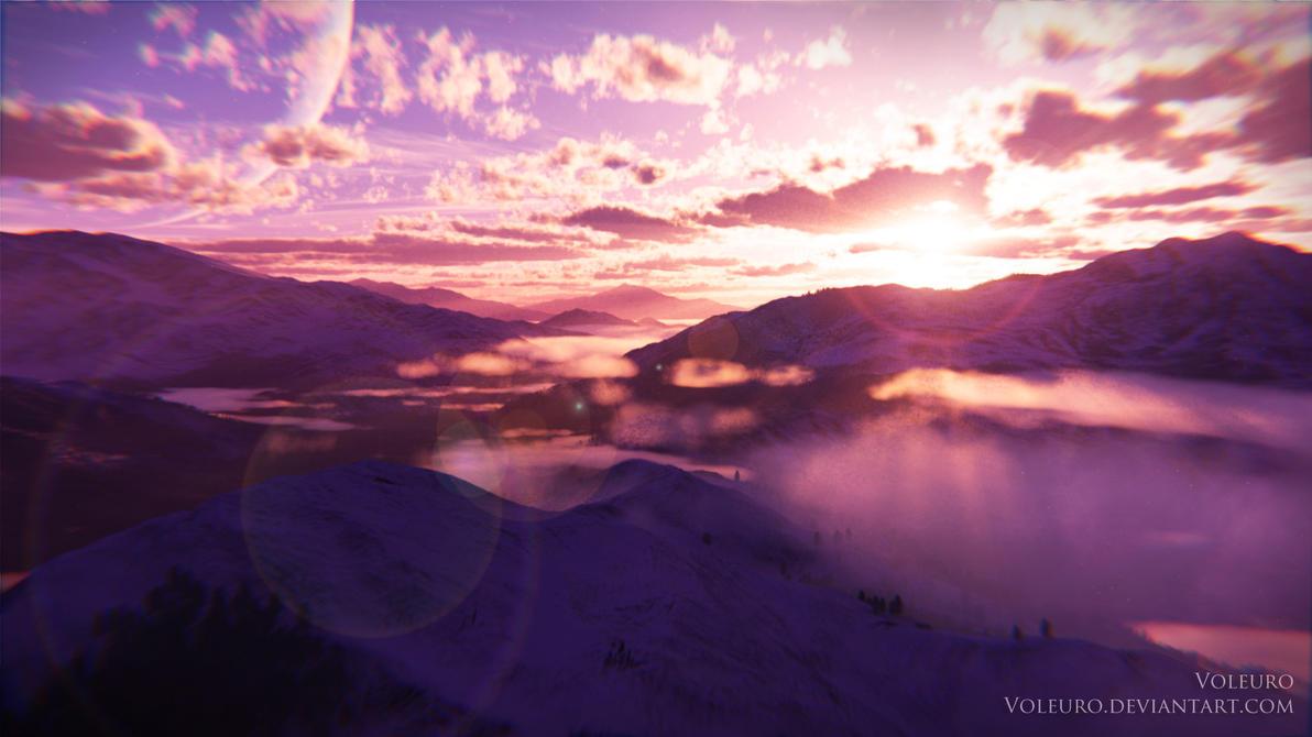 Winter wonderland (Commission) by Voleuro
