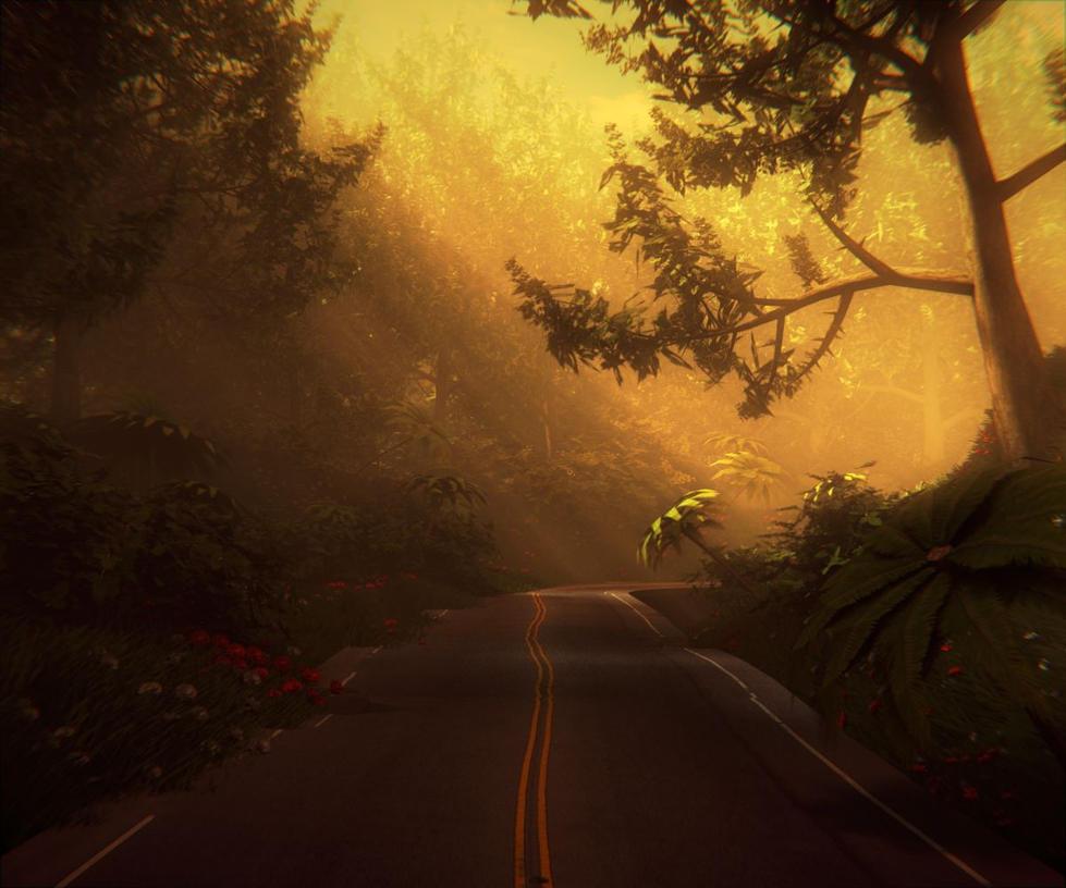 Enchanted Road by Voleuro