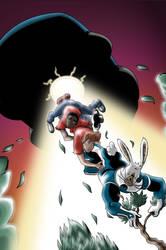 Megatomic Battle Rabbit issue 4 cover