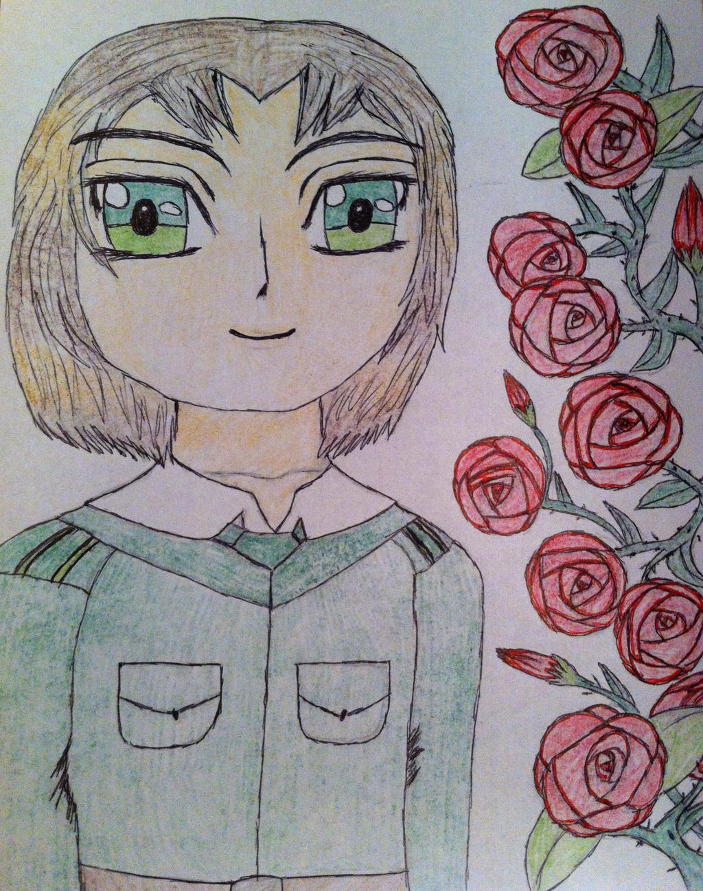 Rose Garden Anime: Hetalia- Lithuania In A Rose Garden By Lovi-My-Chibi