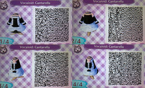 ACNL QR Code:  Hatsune Miku's Cantarella Dress