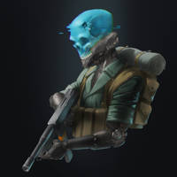 Roland the Headless Thompson Gunner by Shady-Rogue