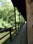 the covered bridge.