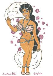 Kalini The Pearl Burlesque Dancer