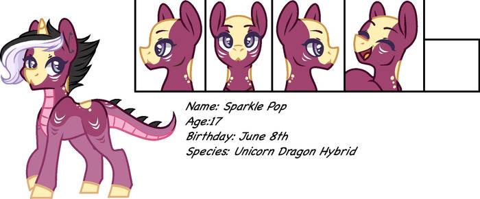 Sparkle Pop reference sheet [ponysona]