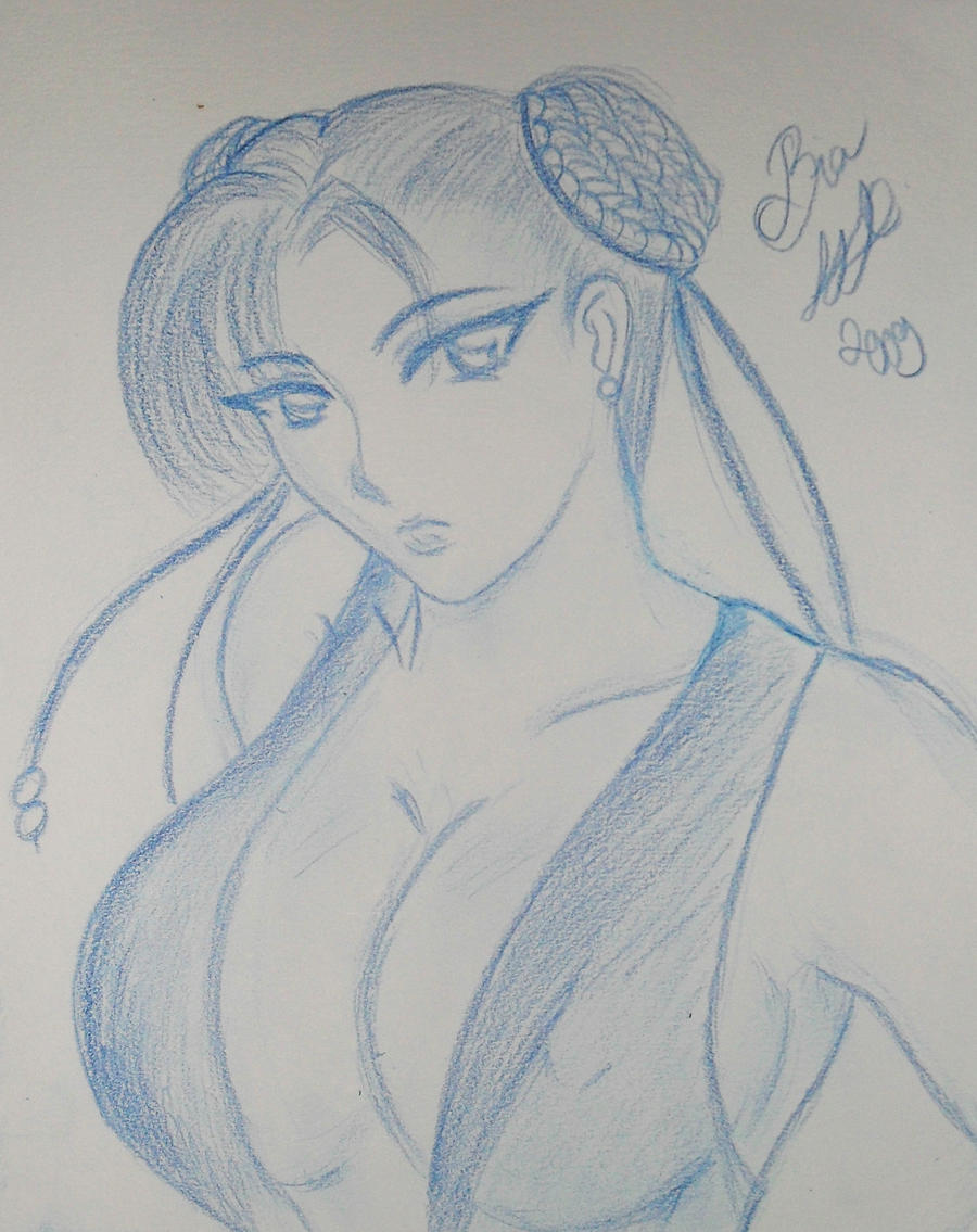 Chun-Li outline by biachunli