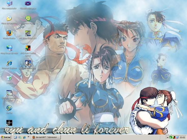 Ryu and Chun-li 4ever by biachunli