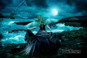 Alone_angel by MiloshJevremovic