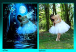 Fairy Night before after by MiloshJevremovic