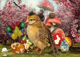 Happy Easter by MiloshJevremovic