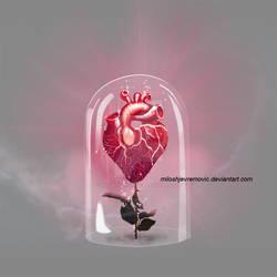 Heart in gloss bell psd file
