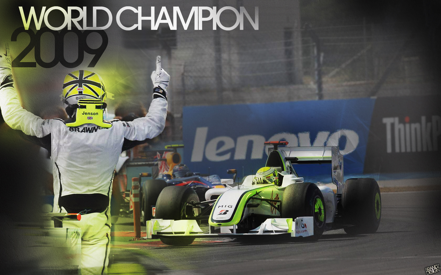Jenson Button World Champion by brandonseaber