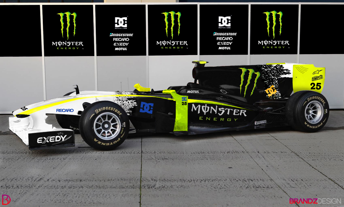 Race Car With Monster Energy Drink Livery
