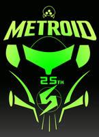 Metroid 25th Anniversary Logo by FireBall-Stars