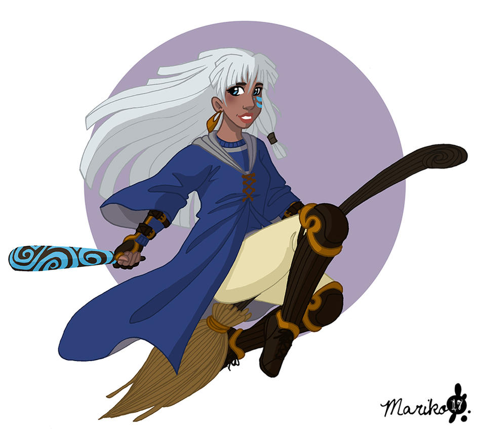 Kida the Ravenclaw Beater by mistressmariko