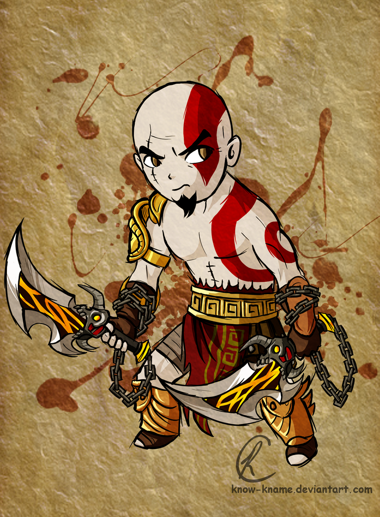 Kratos tooned by Know-Kname