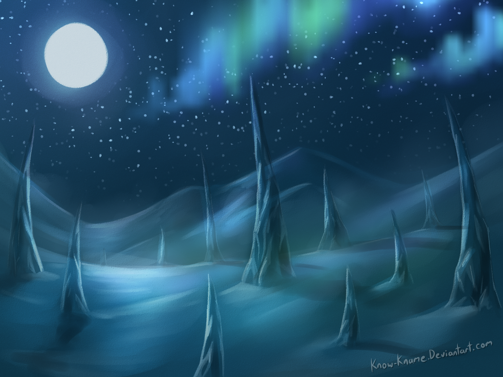 Minecraft ice spike biome speedpaint by Know-Kname