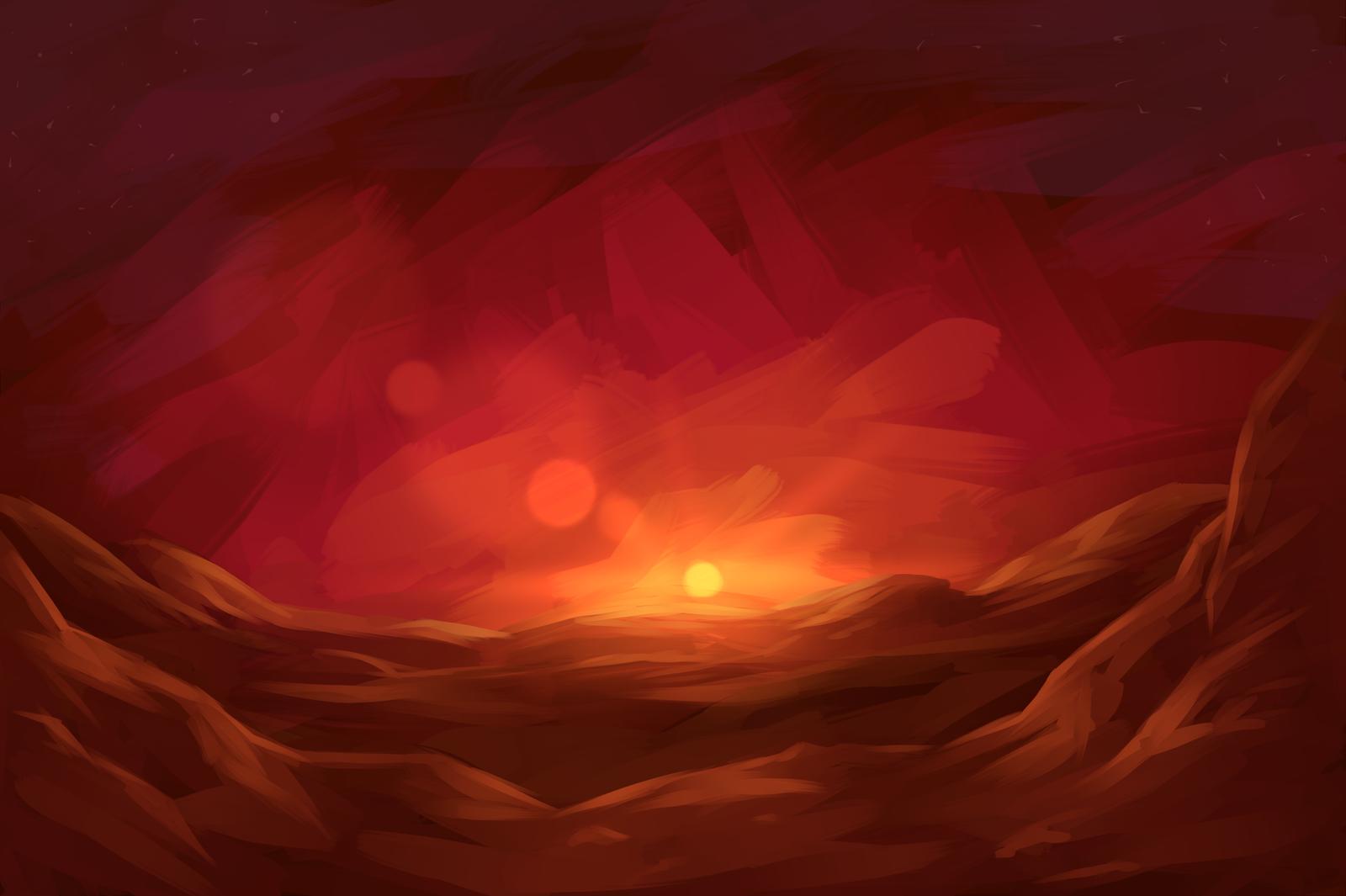 Martian sunset by know kname on deviantart - Mars sunset wallpaper ...