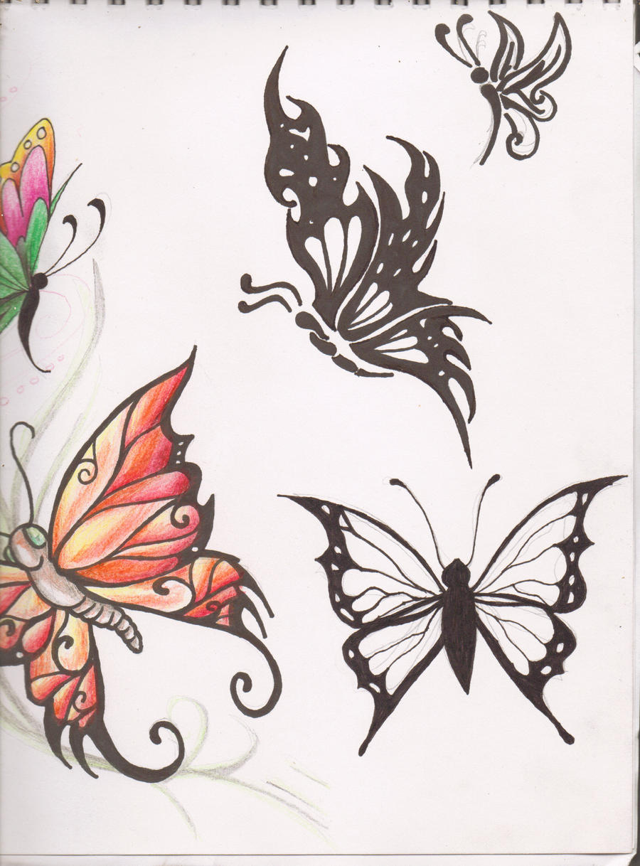 butterfly tattoo designs 2 by kittyshi202 on deviantart. Black Bedroom Furniture Sets. Home Design Ideas