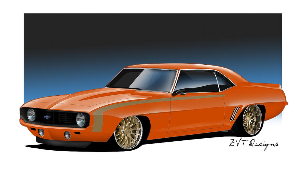 69 Camaro Orange Quot Rendering Quot