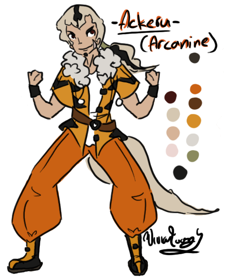 Ackeru the Arcanine Gijinka by Twin-Divinity