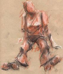 Crayon girl by bloodsbane