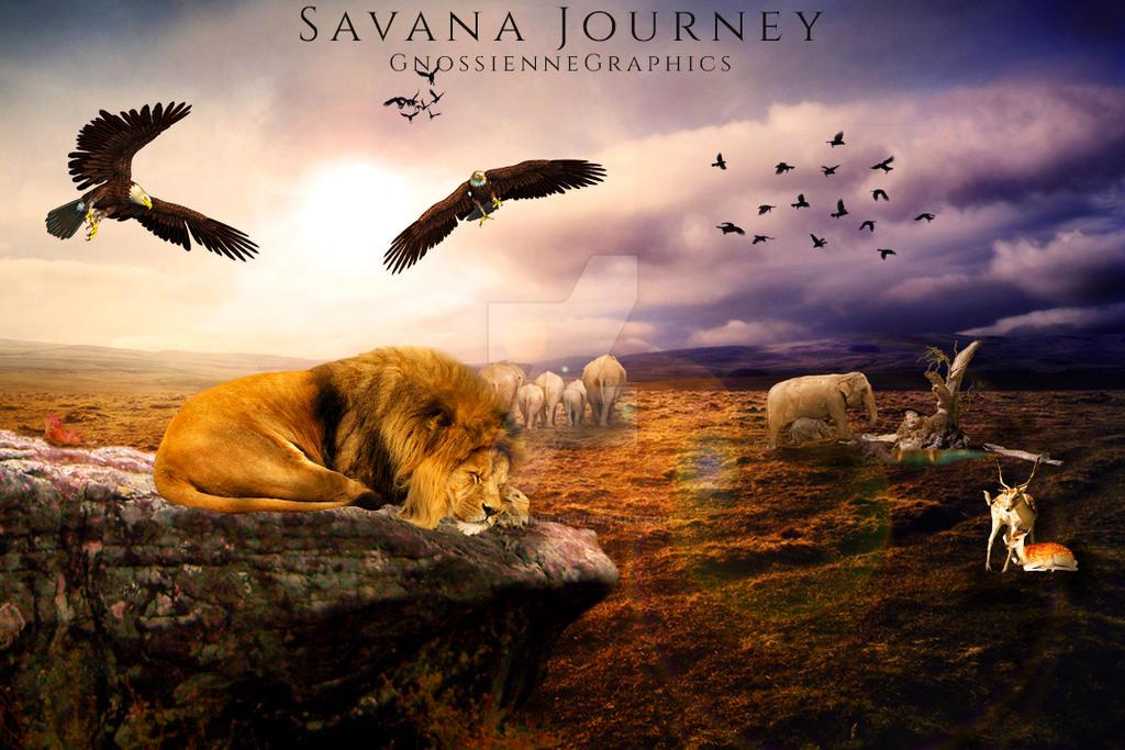 Savana Journey by Gnossiennee