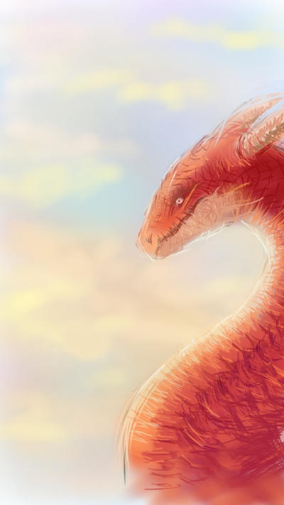 Red dragon on sketchbook by hellmancrow