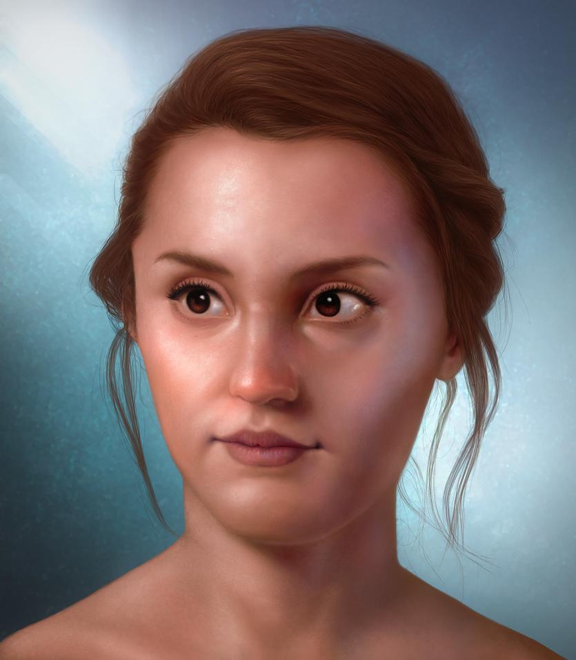 Portrait 001 by hellmancrow
