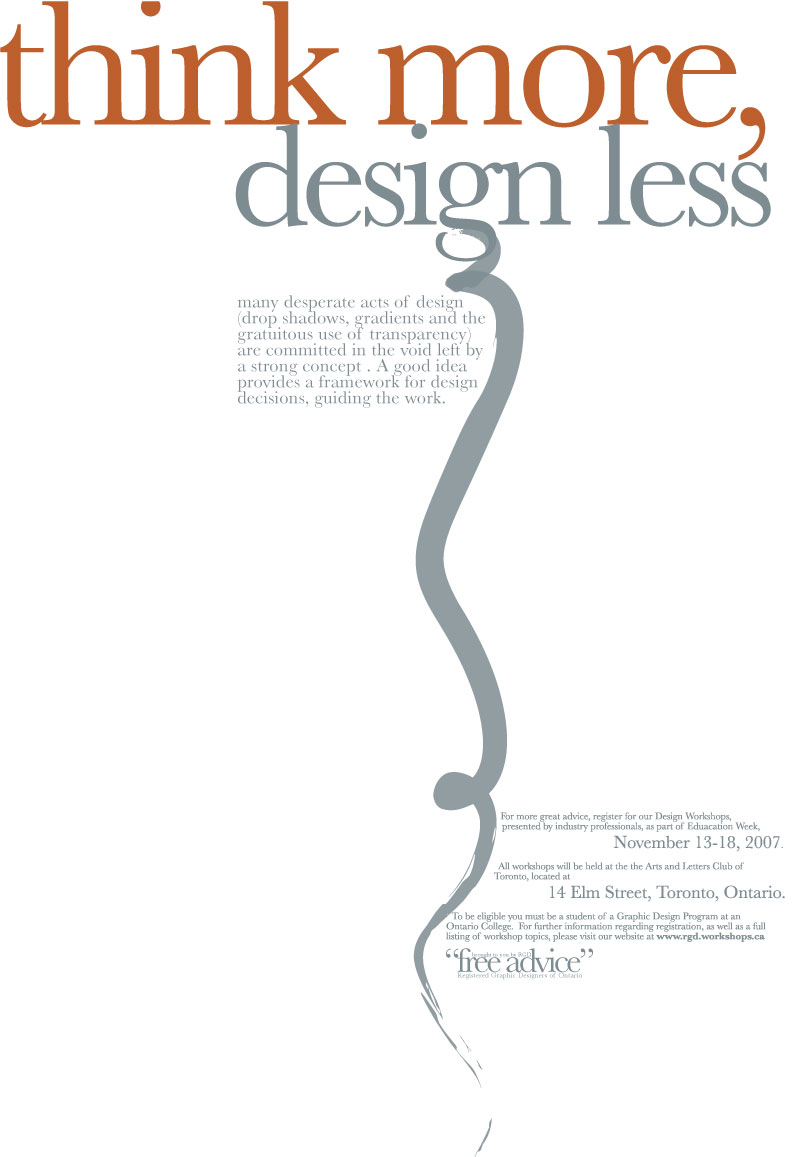 Poster Ad for Typography