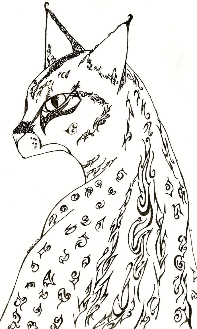 Quickie Holiday Art Trade 2014 Inky Savannah by Beollain