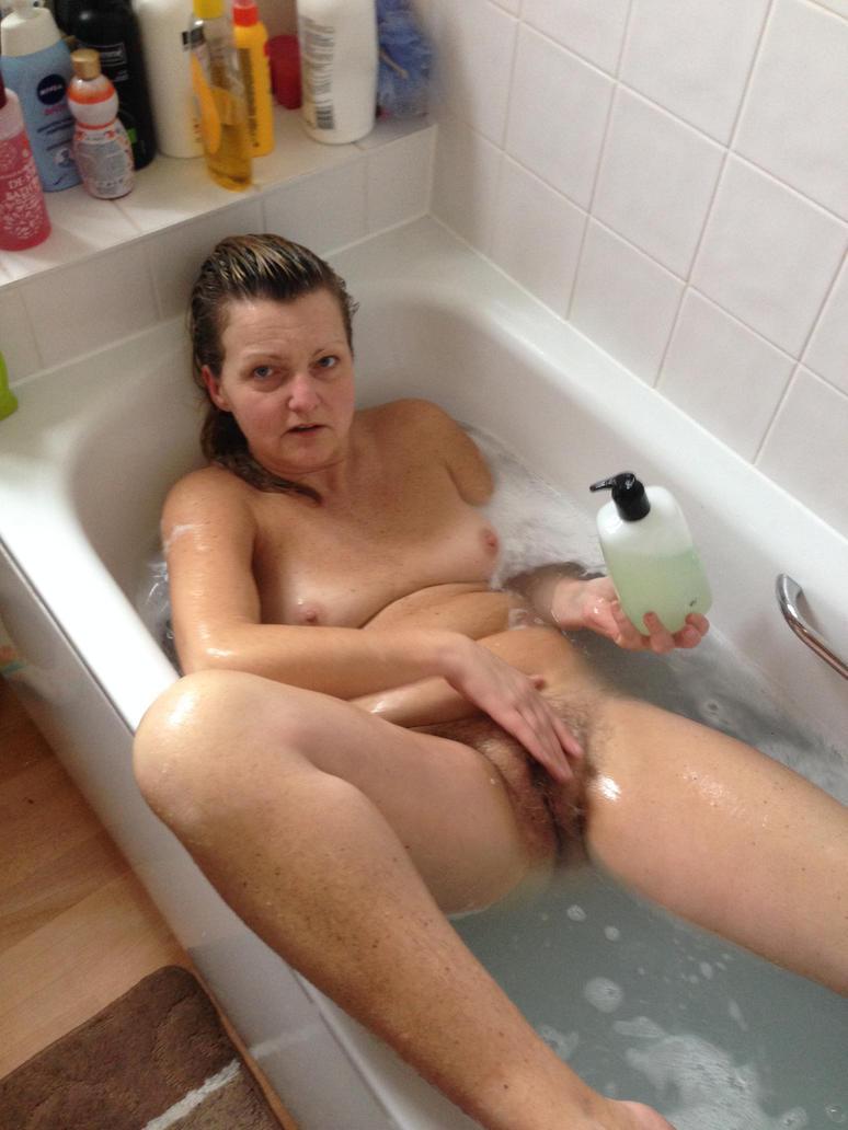 Nude Mature Bath 6
