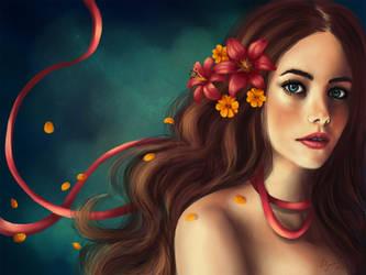 Flower girl by VanilleNoire