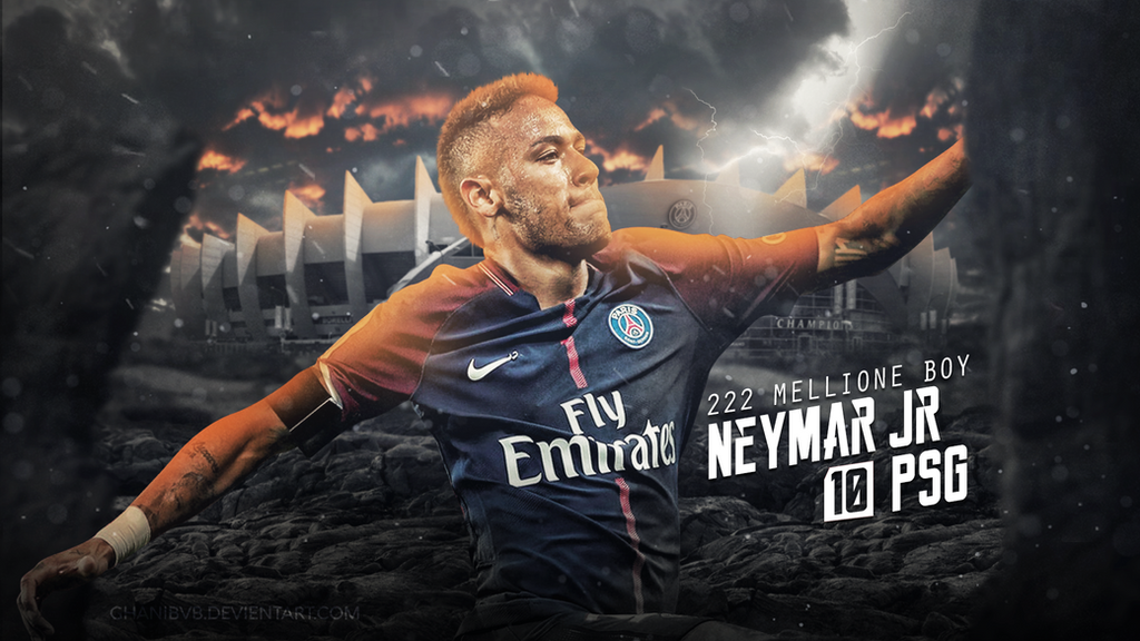 Neymar Jr Wallpaper PSG 2017 18 By Ghanibvb