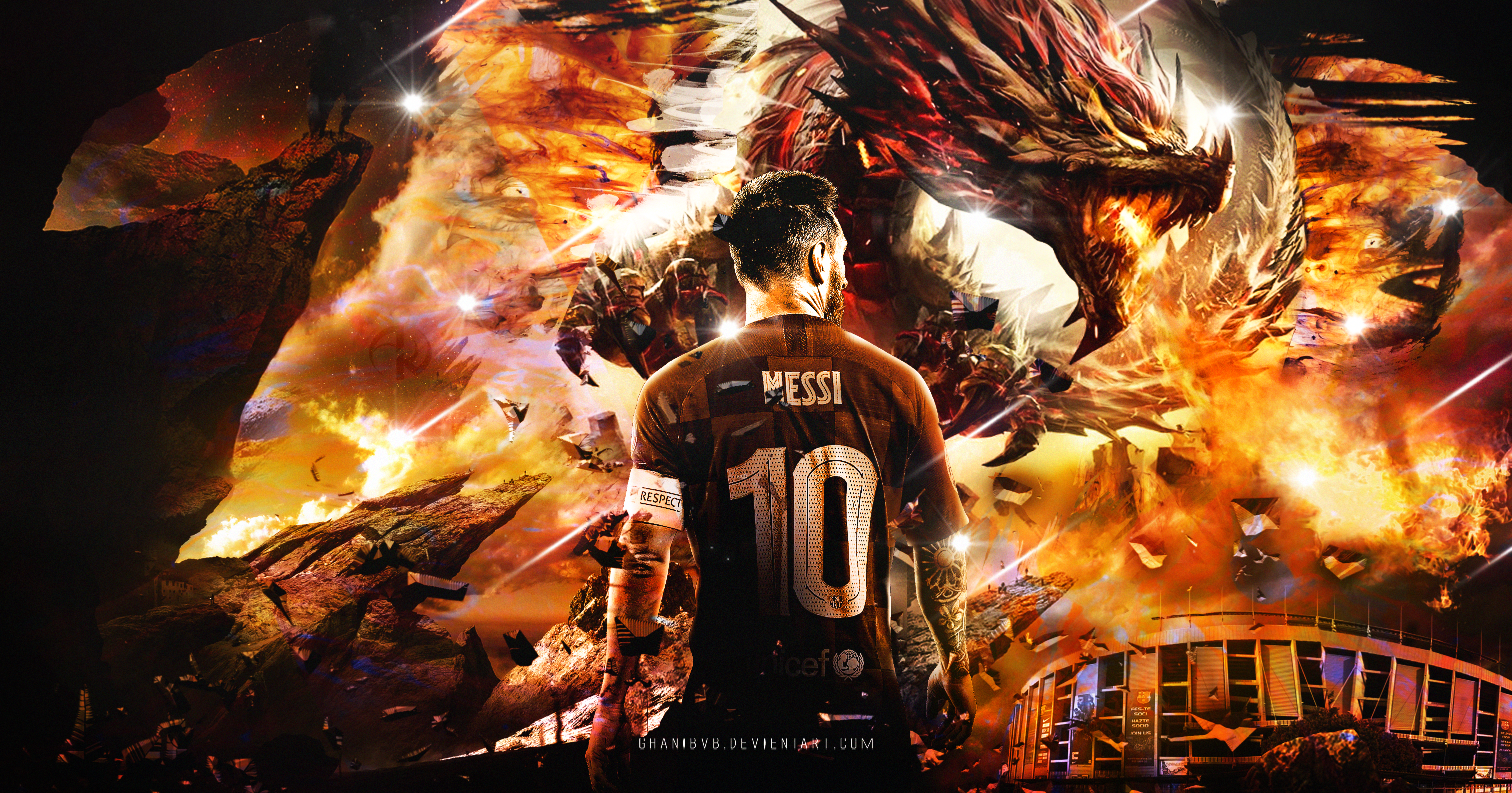 lionel messi wallpaper fc barcelona 2019 20 by ghanibvb on deviantart deviantart