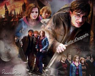 battle of Hogwarts by PrincessPatsy