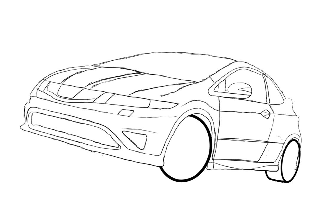 drawing of honda