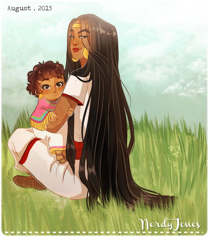 Aztec's little princess by NerdyJones