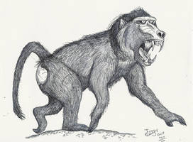 Dinopithecus ingens by HodariNundu