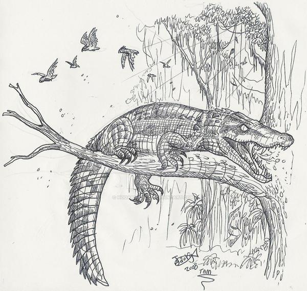 Trilophosuchus by HodariNundu