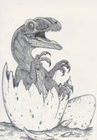 Hatching Guaibasaurus by HodariNundu