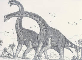Clash of the Brachiosaurs by HodariNundu