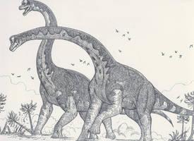 Clash of the Brachiosaurs by HodariNundu