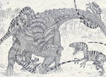 Sauropelta vs Deinonychus