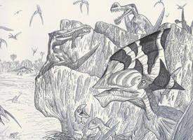 Pterosaur sanctuary by HodariNundu