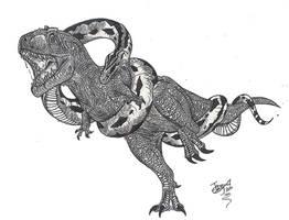 Dinosaur eater by HodariNundu