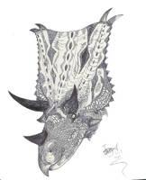 Chasmosaurus by HodariNundu