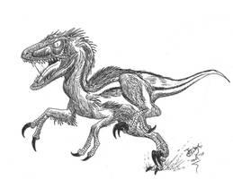 Balaur, double-blade raptor by HodariNundu